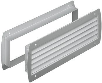 color marr/ón oscuro 80 x 500 mm Rejilla de ventilaci/ón de aluminio