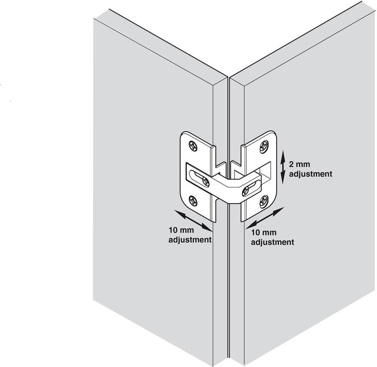 Bisagra para puertas plegable para armario de esquina - Bisagras para armarios ...