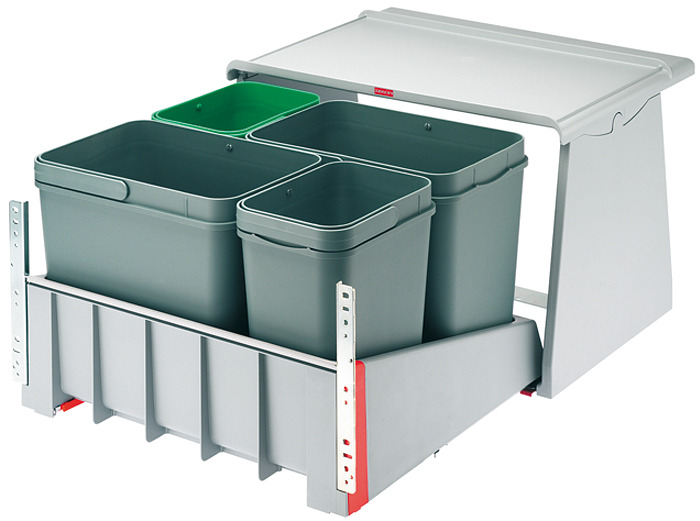 Cubo de basura doble y cubo de basura con cuatro compartimentos 9d768a0b616