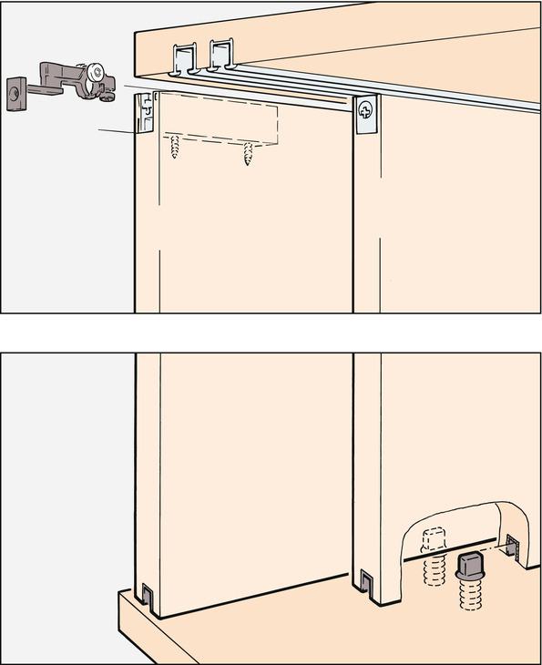 Herraje para puerta corredera eku clipo 15 hm if juego for Herraje puerta corredera colgada