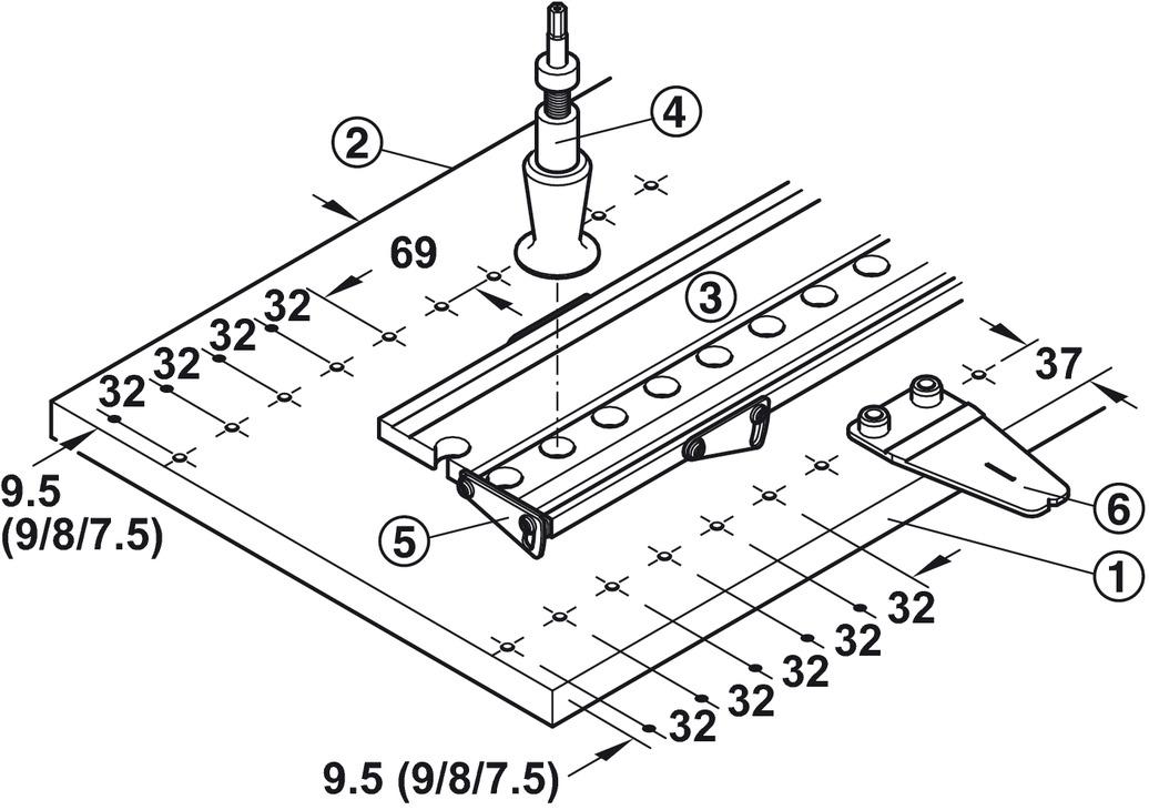 gu/ía de Taladro de Agujero de Bolsillo Wavel 8 unids//Set Plantilla de Taladro de 15 Grados Plantillas de Accesorios para Herramientas el/éctricas Plantilla de Taladro de /ángulo de carpinter/ía