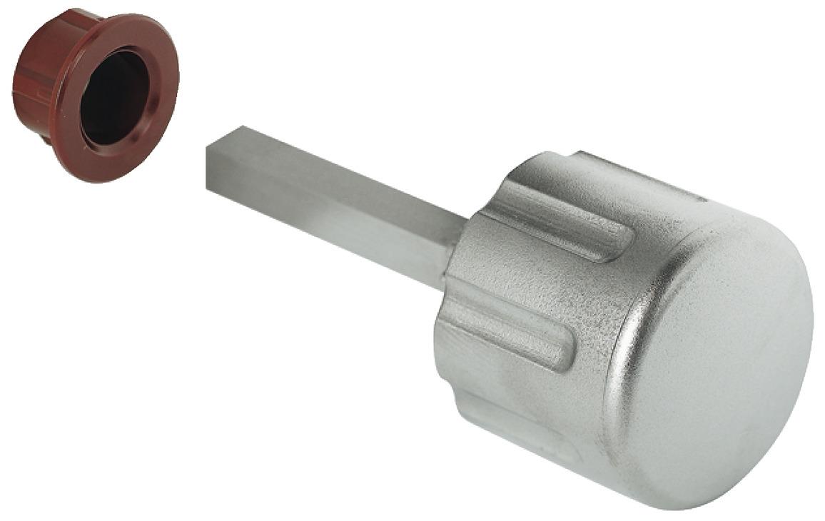 Pomo giratorio para cerradura sobrepuesta con resbal n - Pomos con cerradura ...