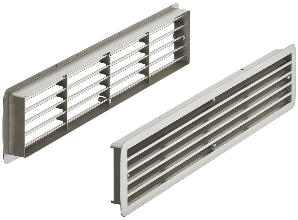 galvanizada, 260 x 105 mm, con protecci/ón contra insectos, metal Rejilla de ventilaci/ón