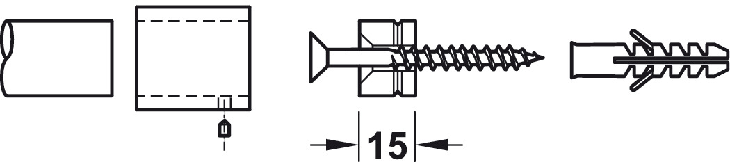 2 unidades, acero inoxidable Rodamiento para barra de armario de 25 mm de di/ámetro